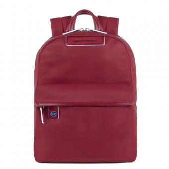 """Piquadro Celion Kleiner Laptop-Rucksack 11"""" mit Tabletfach rot"""