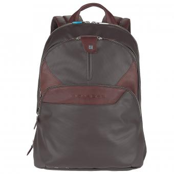 Piquadro Coleos Laptoprucksack dark brown