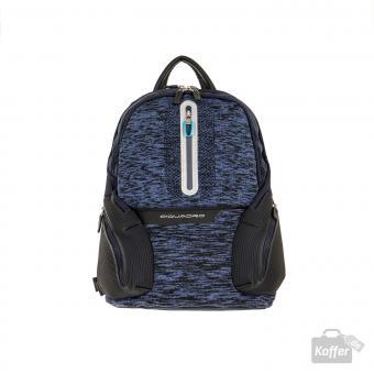 """Piquadro Coleos Active Laptop-Rucksack 13.3"""" mit USB-Anschluss Blau"""