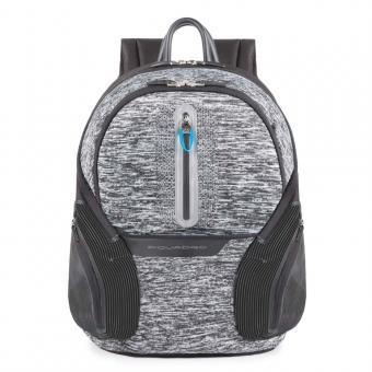 "Piquadro Coleos Active Laptop-Rucksack 13.3"" mit USB-Anschluss Grau"