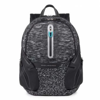 "Piquadro Coleos Active Laptop-Rucksack 13.3"" mit USB-Anschluss Schwarz"