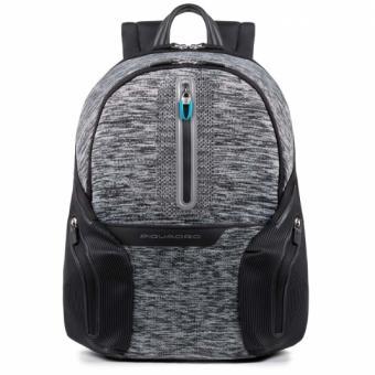"""Piquadro Coleos Active Laptop-Rucksack 14"""" mit Tabletfach und USB-Anschluss Grau"""