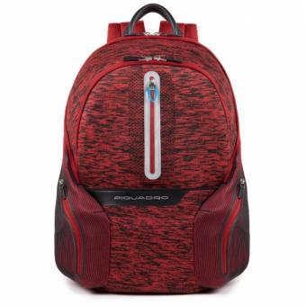 """Piquadro Coleos Active Laptop-Rucksack 14"""" mit Tabletfach und USB-Anschluss Rot"""