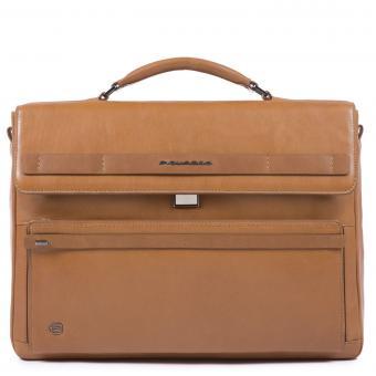 Piquadro Cube Laptoptasche mit iPad®10,5''/14 Zoll-Fach lohfarben
