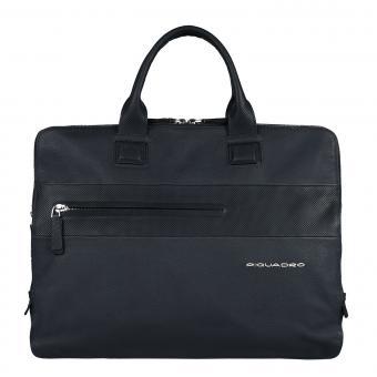 Piquadro Laszlo Doppelgriff-Laptoptasche mit drei Einsteckfächern midnight blue