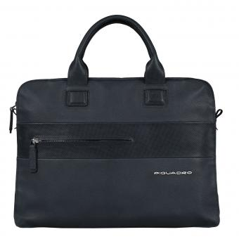 Piquadro Laszlo Doppelgriff-Laptoptasche mit Fächerfach midnight blue