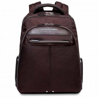 """Piquadro Link Laptop Backpack 15"""" Braun"""