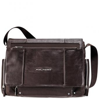 Piquadro Link Laptoptasche im Messengerstil dark brown