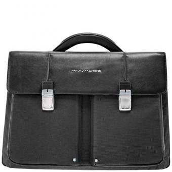 Piquadro Link Laptoptasche mit zwei Fächern black
