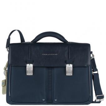 Piquadro Link Laptoptasche mit zwei Fächern navy blue