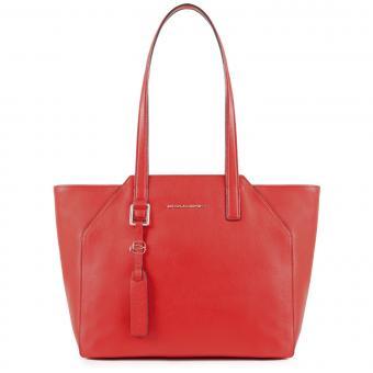 """Piquadro Muse Damentasche mit iPad Air/Pro 9.7""""-Fach und Laptop-Hülle rot"""