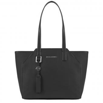 """Piquadro Muse Damentasche mit iPad Air/Pro 9.7""""-Fach und Laptop-Hülle schwarz"""