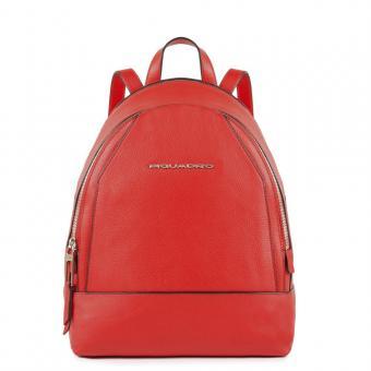 Piquadro Muse Kleiner Rucksack mit iPad®mini-Fach Muse Rot