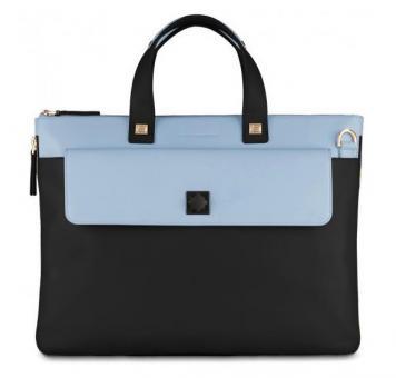Piquadro Omega Erweiterbare, schmale Laptoptasche navy blue
