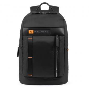 """Piquadro PQ-Bios Laptoprucksack 15,6"""" und Flaschen-/Schirmtasche schwarz"""