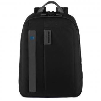 """Piquadro P16 Kleiner Laptoprucksack 14"""" schwarz"""