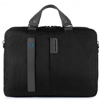 """Piquadro P16 Kurzgrifflaptoptasche mit Laptopfach 15.6"""" schwarz"""