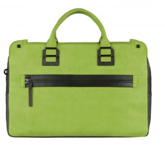 Piquadro TAU Doppelgriff-Laptoptasche mit Front-tasche green