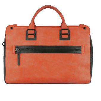 Piquadro TAU Doppelgriff-Laptoptasche mit Front-tasche red