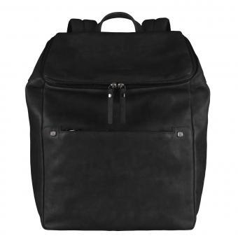 Piquadro TAU Erweiterbarer Laptoprucksack mit Fach für Tablet black