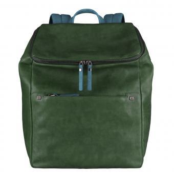 Piquadro TAU Erweiterbarer Laptoprucksack mit Fach für Tablet forest green