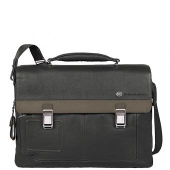 """Piquadro Vibe Laptoptasche 15"""" mit Tabletfach mit zwei Verschlüssen grey-taupe"""
