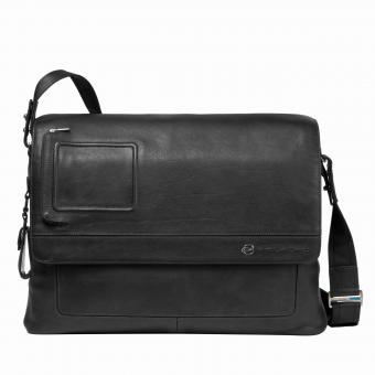 Piquadro Vibe Messenger mit doppeltem Notebook-Fach black