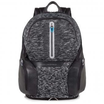 Piquadro Coleos Laptoprucksack mit Tablet-Fach und USB-Anschluss Schwarz