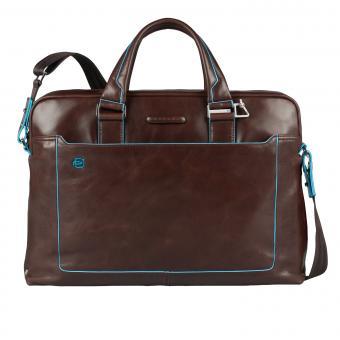 Piquadro Blue Square Kurzgriff-Laptoptasche mit iPad®Air/Air2-Fach, Schirm- und Flaschentasche Mahagoni