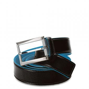 Piquadro Blue Square Gürtel mit Dornschliesseturteltaube Schwarz