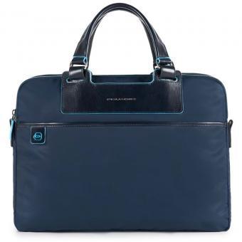 Piquadro Celion Kurzgriffaktentasche mit RV-Vortasche und herausnehmbarer PC-, iPad®-Hülle mit Orga-Fäc blau