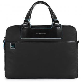 Piquadro Celion Kurzgriffaktentasche mit RV-Vortasche und herausnehmbarer PC-, iPad®-Hülle mit Orga-Fäc schwarz