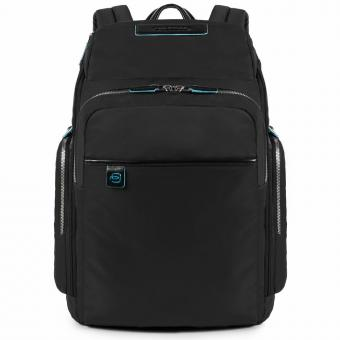 Piquadro Celion Laptop-Rucksack mit iPad®/iPad®Air/Air2 -Fach, Flasche- und Regenschirmfach schwarz