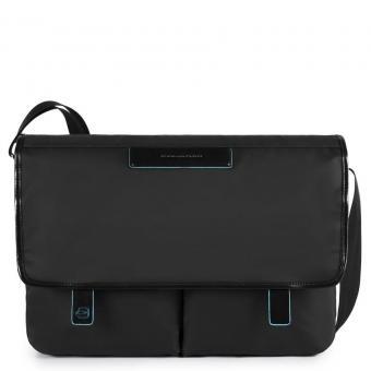 Piquadro Celion Messenger mit zwei Vortaschen und herausnehmbarerPC-, iPad®-Hülle mit Orga-Fächern schwarz