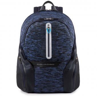 """Piquadro Coleos Active Laptop-Rucksack 14"""" mit Tabletfach und USB-Anschluss Blau"""