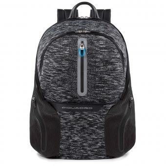 """Piquadro Coleos Active Laptop-Rucksack 14"""" mit Tabletfach und USB-Anschluss Schwarz"""