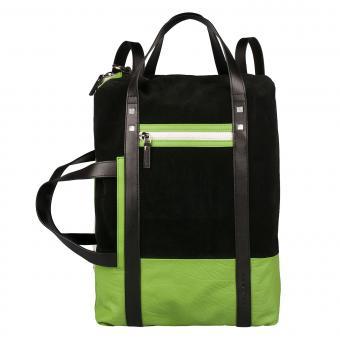 Piquadro ETA Doppelgriff-Laptoptasche mit Schulterträgern black