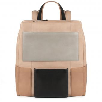 Piquadro Kirk Laptop-Rucksack mit gepolstertem iPad® -Fach beige