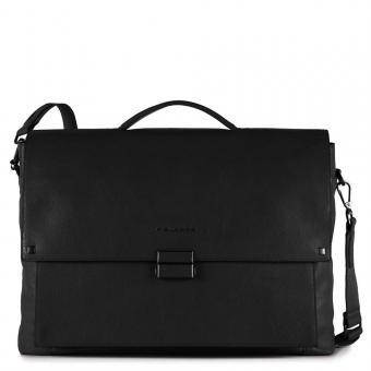 Piquadro Kolyma Große Laptoptasche mit Überschlag und iPad®Air/Pro 9,7-Fach schwarz