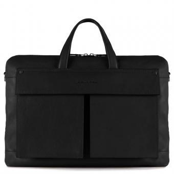 Piquadro Kolyma Kurzgriff-Laptoptasche mit zwei Fächern und iPad®Air/Pro 9,7-Fach schwarz