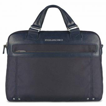"Piquadro Link Doppelgriff-Laptoptasche 15"" mit iPad®-/iPad®Air-/iPad®mini-Fach Blau"