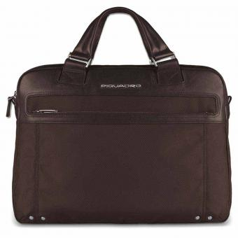 """Piquadro Link Doppelgriff-Laptoptasche 15"""" mit iPad®-/iPad®Air-/iPad®mini-Fach Dunkelbraun"""