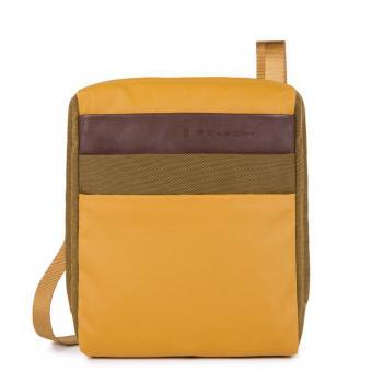 Piquadro Orinoco Organisierte Umhängetasche mit iPad®Air/Pro 9,7-Fach mustard