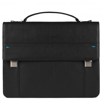 Piquadro Pike Laptoptasche mit Überschlag und iPad®-Fach black