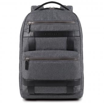 """Piquadro Ross Großer Laptop-Rucksack 14"""" grigio"""