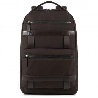 """Piquadro Ross Großer Laptop-Rucksack 14"""" marone"""