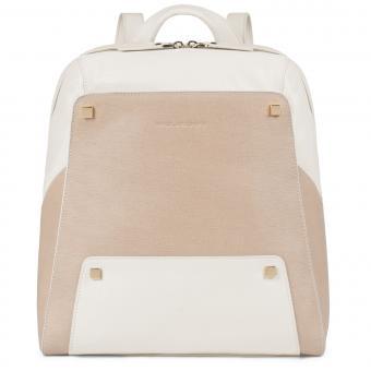 "Piquadro Uhura Laptop-Rucksack 12"" beige"