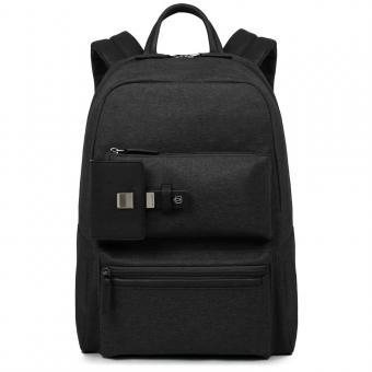 Piquadro Yukon Erweiterbarer Laptoprucksack mit iPad®Air/Pro 9,7-Fach schwarz