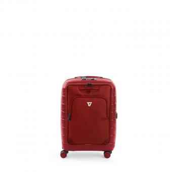 Roncato D-BOX Cabin Trolley + Abnehmbare Vordertasche Rot