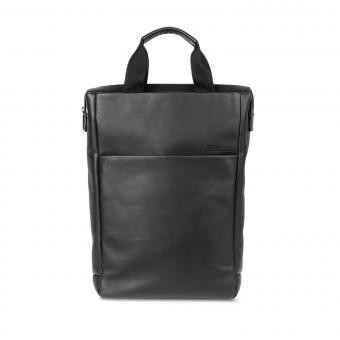 "Salzen Backpack Tote Leather 15,6"" Total Black"